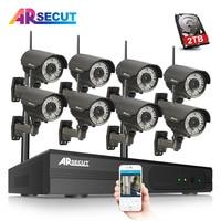 ARSECUT 8CH 960P Wireless Security NVR Kit CCTV System IR Night Vison Waterproof CCTV Home Security