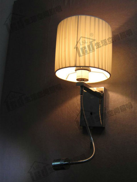 Wall Mount Lamp Shades With Ajustable Reading Light Led 4