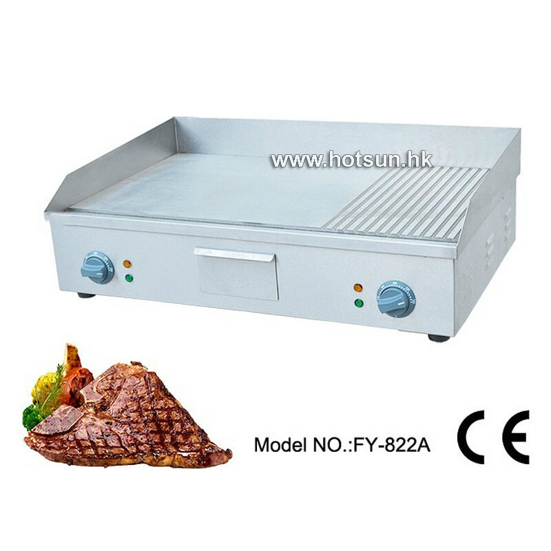 Commercial Electric 220v Countertop Table top Flat Top Frytop Hot Plate Smokeless Flat Grooved Griddle commercial non stick electric 220v countertop table top teppanyaki plate panini contact griddle
