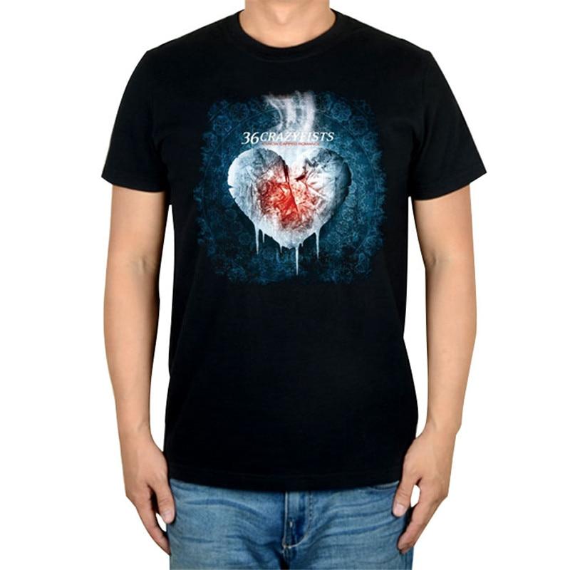 10 видов стилей Harajuku милые 36 crazyfists панк-рок белый черный рубашка ММА фитнес хлопок тяжелый металл Футболка с принтом Тис мяч
