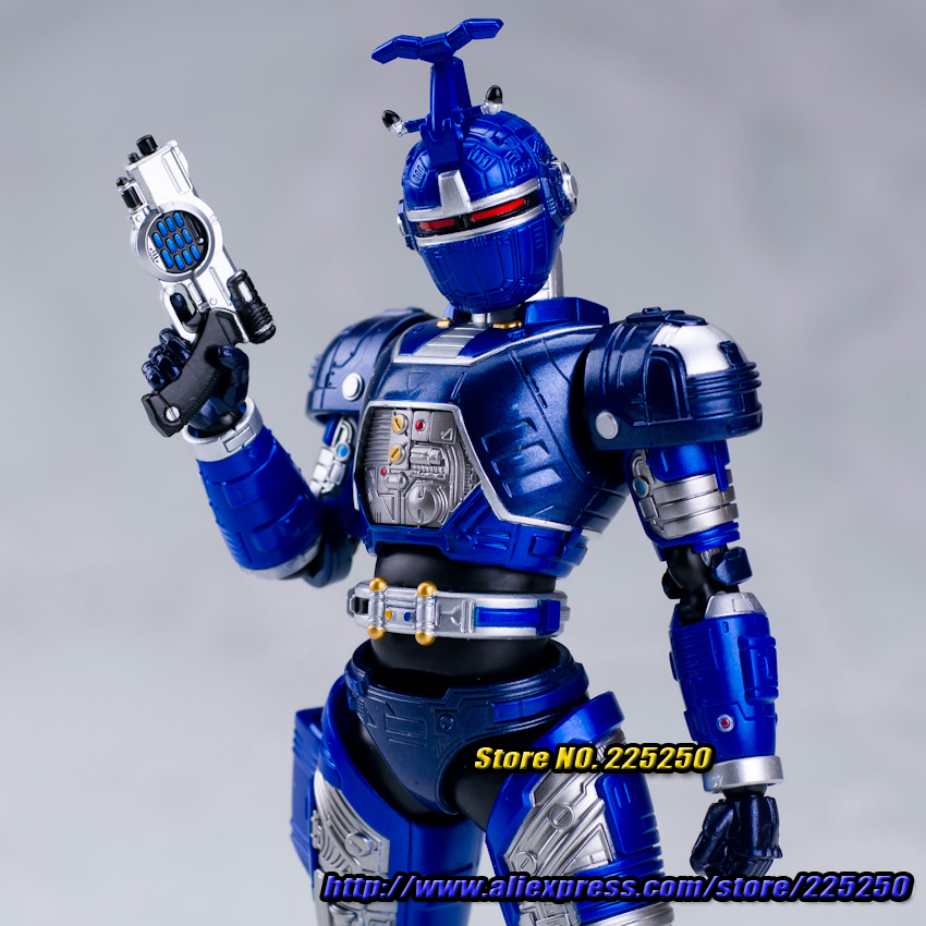 Anime Masked Rider Beetle Fighter Original BANDAI Tamashii Nations SHF/ S.H.Figuarts Action Figure - Blue Beet