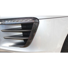 lsrtw2017 carbon fiber car head vent trims for porsche macan 2014 2015 2016 2017 2018