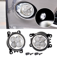 2pcs Highlighted LED White Fog Light Lamp Replacement 3225 2050B AC2592111 Fit For Ford Focus Acura