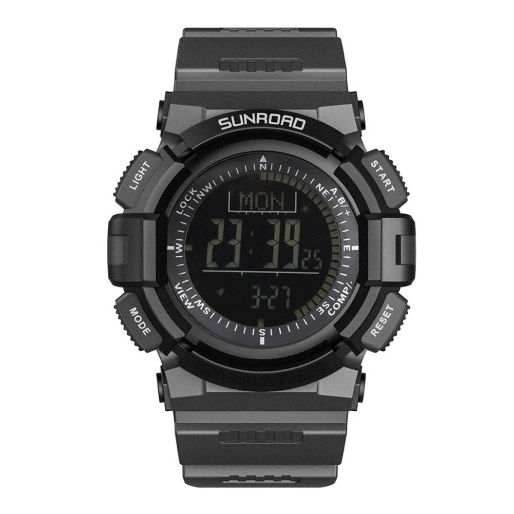 2018 LCD montre numérique hommes noir 3ATM étanche montres de sport multifonctionnel bande barométrique montres relogio masculino