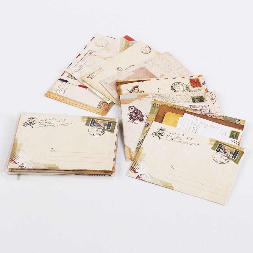 Новые винтажные бумажные конверты стиль древние Подарочное письмо Упаковка блока промокательной почтовой бумаги офисные школьные принадл...