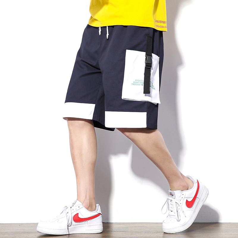 2019 Summer Style Men Cargo Shorts Streetwear Hip Hop Pockets Patchwork Joggers Shorts ABZ401