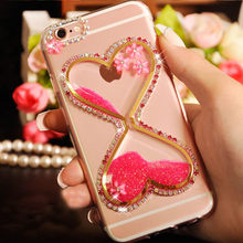Heart Cup Cover+Bling Glitter Diamond Quicksand Phone Case For xiaomi Max 2/Mix 2/mi6/5X/A1/A2/Redmi 5 plus/4A/4x/Note 4x/5A/Pro(China)