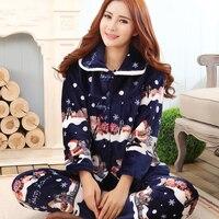 2015 Lounge Sleepwear Female Autumn And Winter Flannel Women S Coral Fleece Winter Thickening Long Sleeve