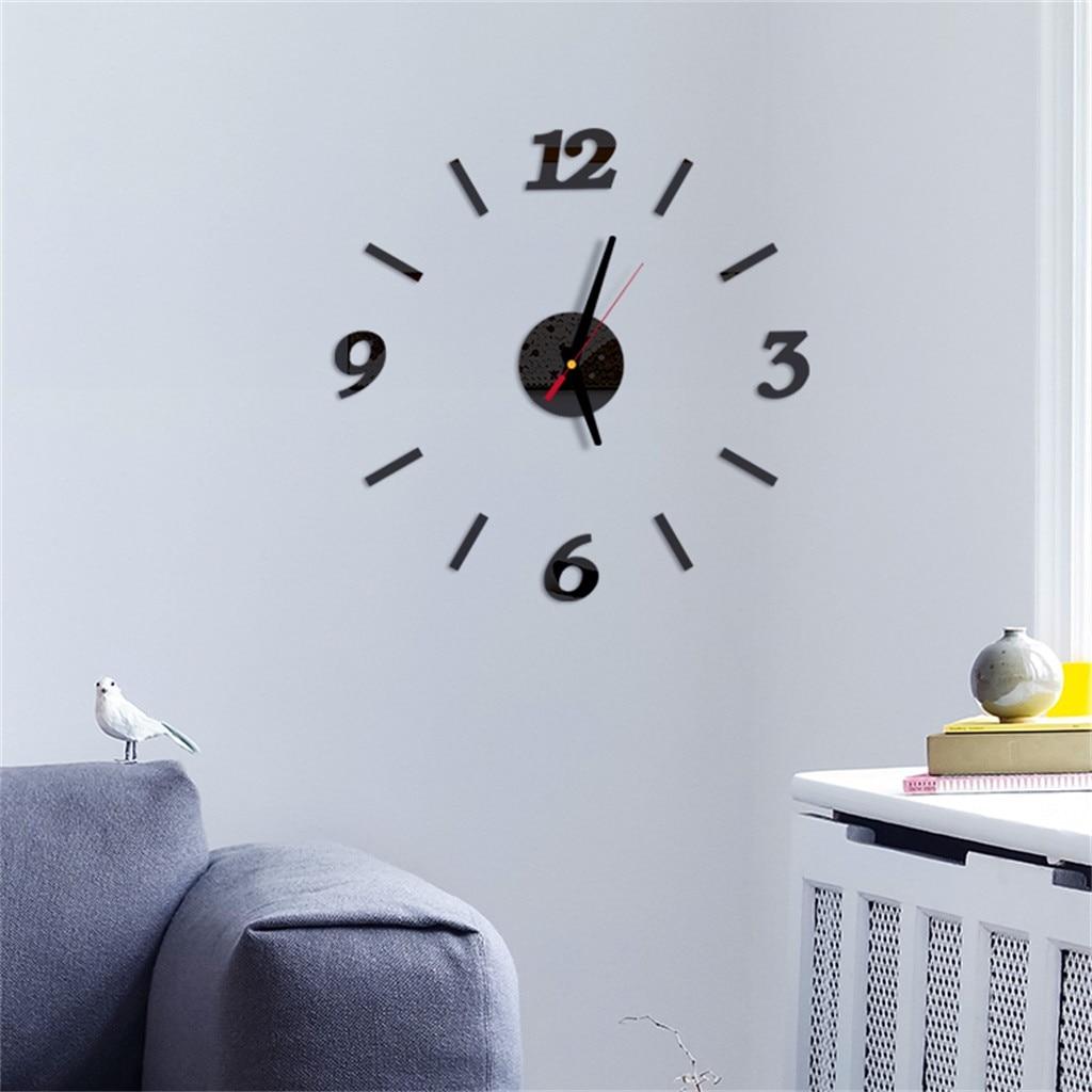 Wall Clock 3D DIY Roman Numbers Modern Design Digital Clock Mirror Living Room Bedroom Decorative Muticolor Clocks Sticker MAR4
