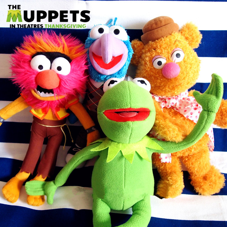 New The Muppets Kermit Frog & Gonzo & Fozzie Bear & ANIMAL Plush Doll Toy 4PCS Gift