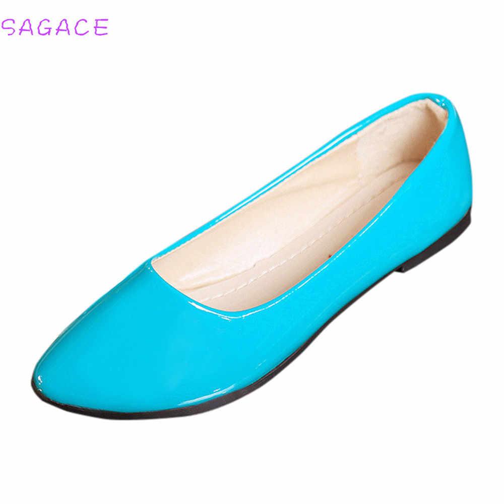 Sagace 2018 Người Phụ Nữ Xuân Thu Đảng Bơm Nữ Thời Trang Nữ Trơn Trượt Trên Giày Xăng Đan Nhiều Màu Sắc Giày Kích Thước