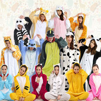 Shineye Stitch Girffe Adult Unisex Flannel Costume Cosplay Hoodie Pajamas Sets Lovely Animal Onesie For Women