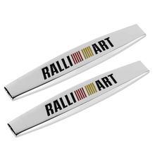 цена на Car Decoration For Mitsubishi Lancer asx Pajero Outlander Eclipse Galant Automobile Fender Emblem Sticker Anti-Collision Badge