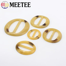 20pcs 2cm-5cm Meetee Oval Ring Resin Adjustment Buckle for Women Shirt Sweater Belt Leather Crafts Decoration Accessories