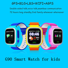Q90 GPS Tracker Smart Watch Children SOS Security Call Location Finder Device Anti Lost for Kids