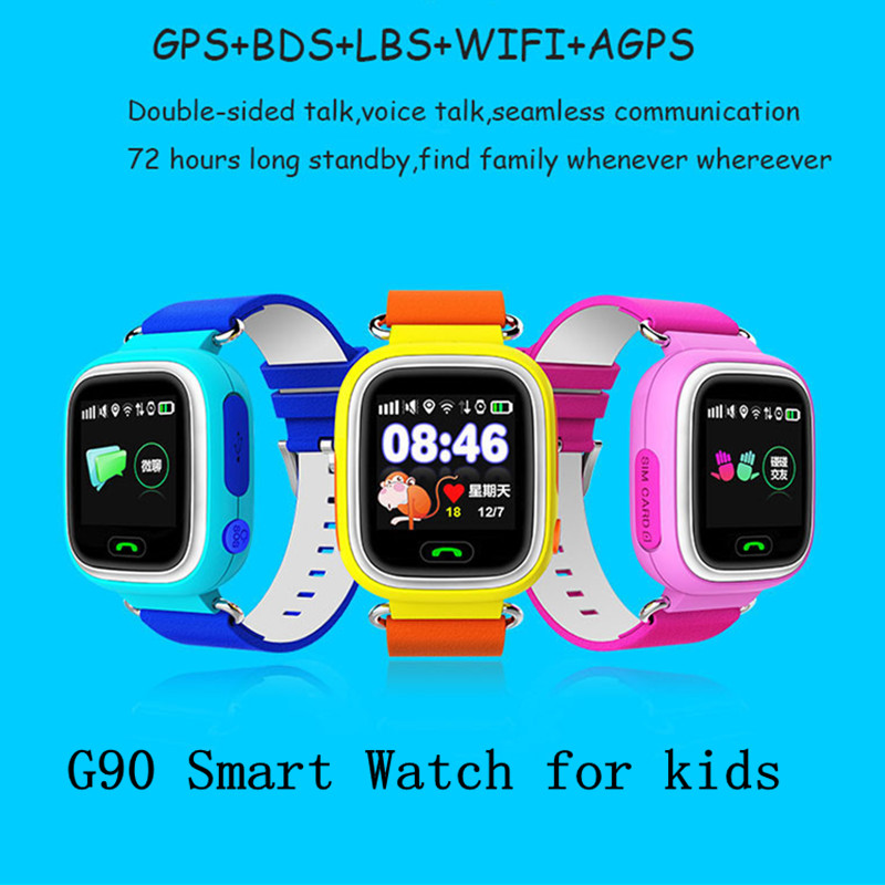 Q90 GPS Tracker font b Smart b font font b Watch b font Children SOS Security