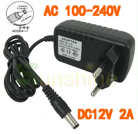 цена на AC 100-240V to DC 12V 2A Converter Adapter Switching Power Supply Charger For Security System EU Plug US Plug optional