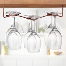 Captivating 1pc Bronze Wine Glass Rack Holder Cup Hanger Kitchen Storage Rack Organizer  Hanging Hook Stemware Racks