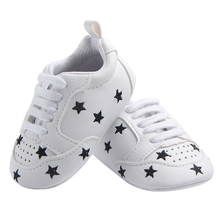 Baby Crib Shoes for Boys Miękka podeszwa PU Leather Mokasyny Girl Sneakers Little Kid Nowonarodzone obuwie Tenis Infantil Berbeć Tenis