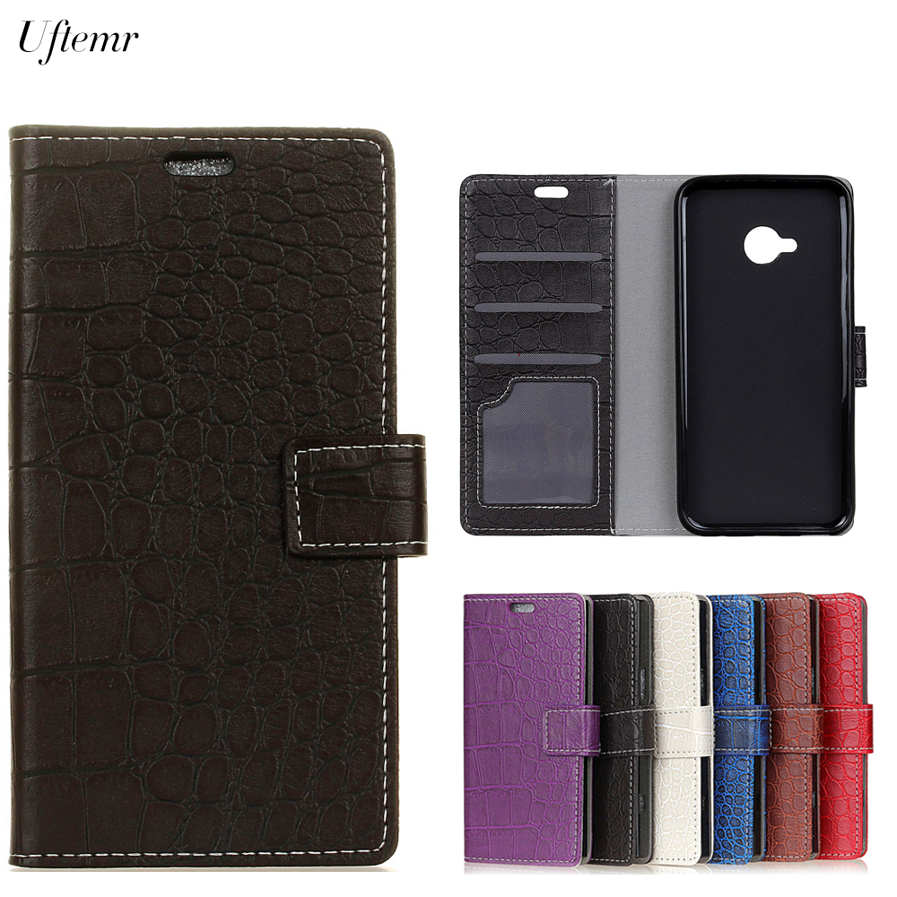 Uftemr Vintage Crocodile PU Leather Cover For HTC U11 Life Protective Silicone Case For HTC U11 Life Wallet Card Slot Acessories