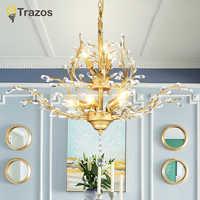 Lustre moderne Led Lustre en cristal éclairage lustres De plafond lumière lampara De Techo lampe à Suspension Luminaire Lampen