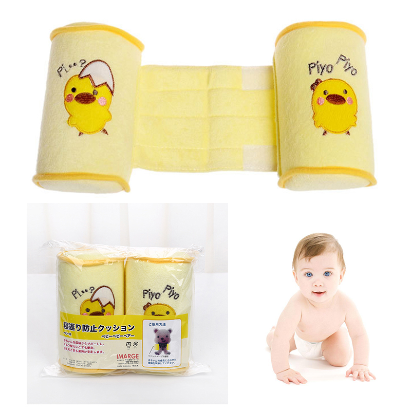 1pc New Yellow Baby Toddler Safe Cotton Roll Pillow Sleep Head Positioner Anti-rollover Cushion Support sleep Pillow