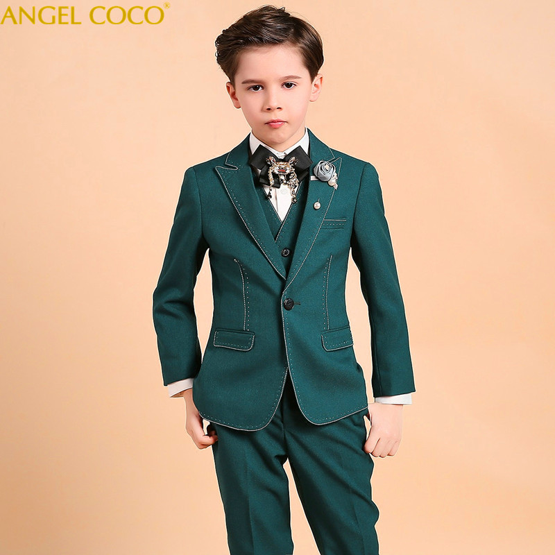 Nimble Boys Suits For Weddings New Arrival Green Boys Wedding Suit Formal Suit For Boy Kids Wedding Suits Blazer Boy Garcon 2018