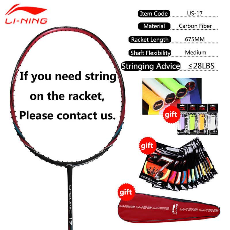 Li-Ning New Original Professional High Quality Carbon Fabric Badminton Rackets Single Sports badminton line AYPM226 EAMJ17