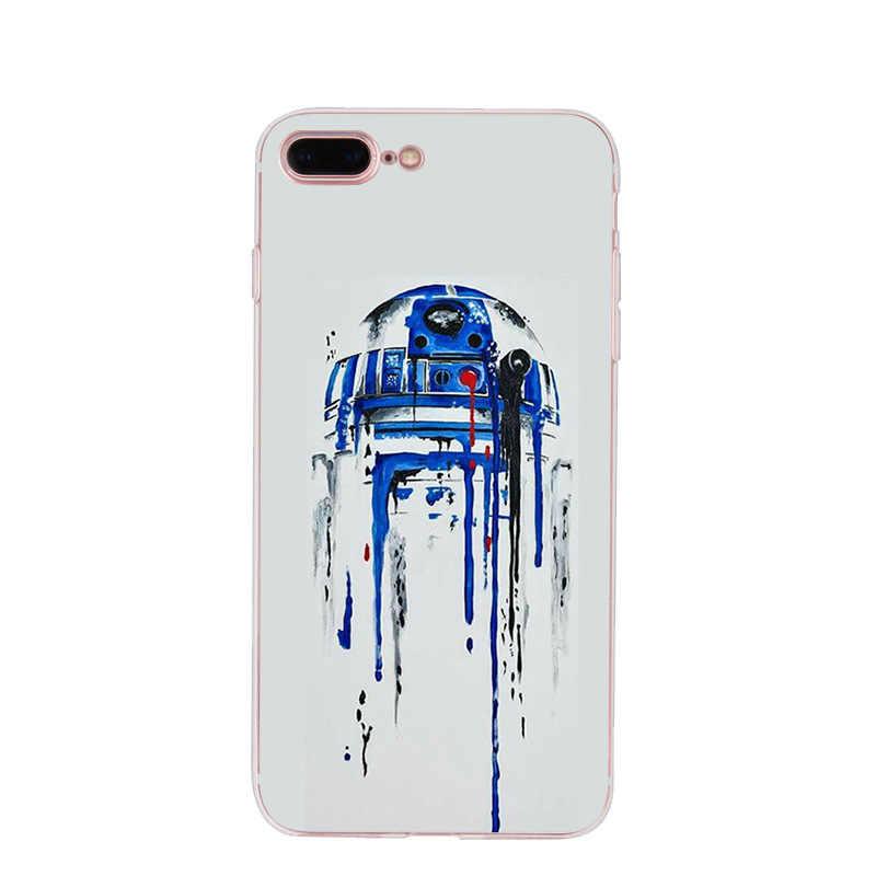 MaiYaCa R2D2 BB8 Darth Vader de Star Wars Stormtrooper Café Caixa Do Telefone Da Forma para o iphone 8 7 6 6S Plus X 10 5 5S SE XS XR XS MAX