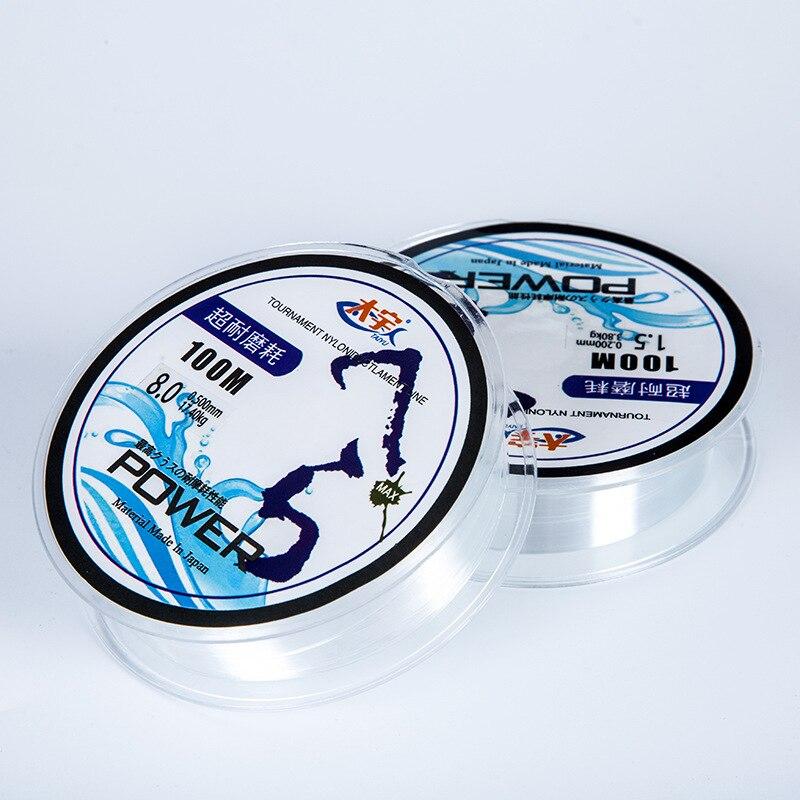 100m nylonový rybářský vlasec Japonský odolný monofil Rock Sea Fishing Line Daiwa Thread Bulk Spool 11 Velikost 1.0 až 7.0