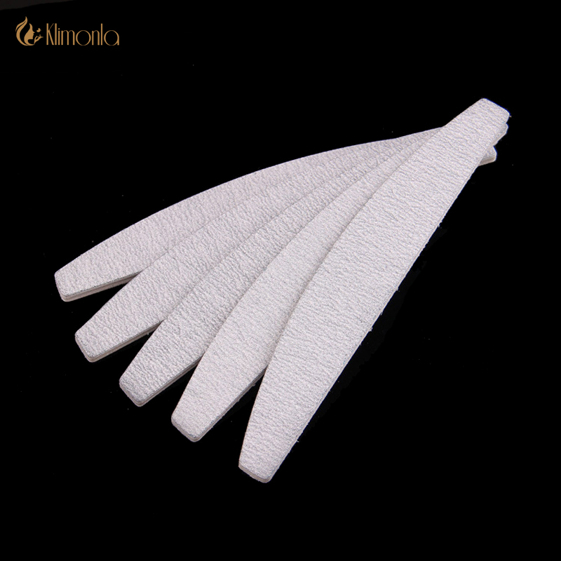 10Pcs 100/180 Gray Nail Art Sanding Files Sandpaper Nail Polish Files Buffing Curve lime a ongle Professional Manicure Tools Set 10pcs lot trimmer buffer nail art tools grey nail files sanding 100 180 curve banana for nail art tips manicure free shipping