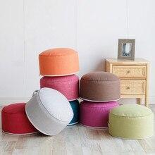 Round High Strength Sponge Tatami Cushion Chair Seat Cushion Futon Chair Cushion Tea Ceremony Washablecotton Cloth Pond Cushion