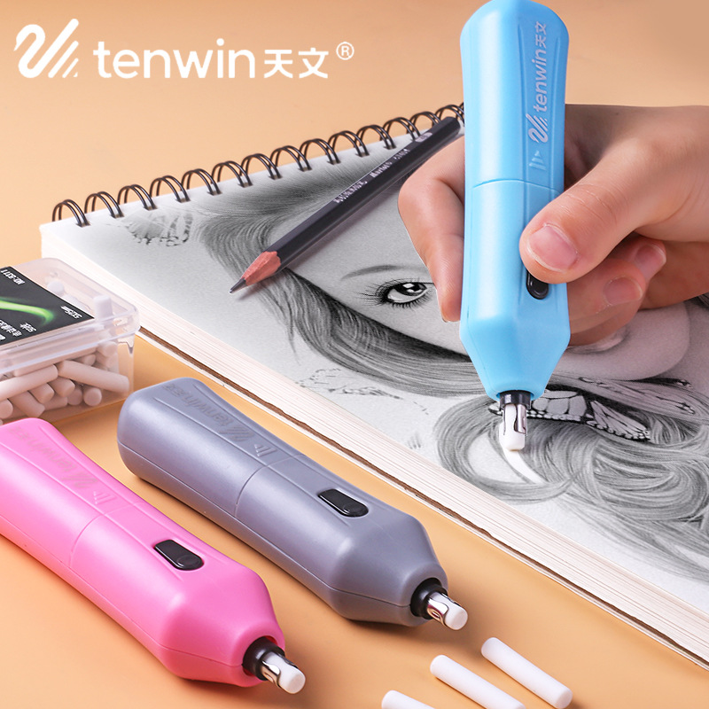 Creative Battery Operated Electric Eraser Automatic Electronic Pencil Rubber Office School Supplies Stationery Escolar Papelaria