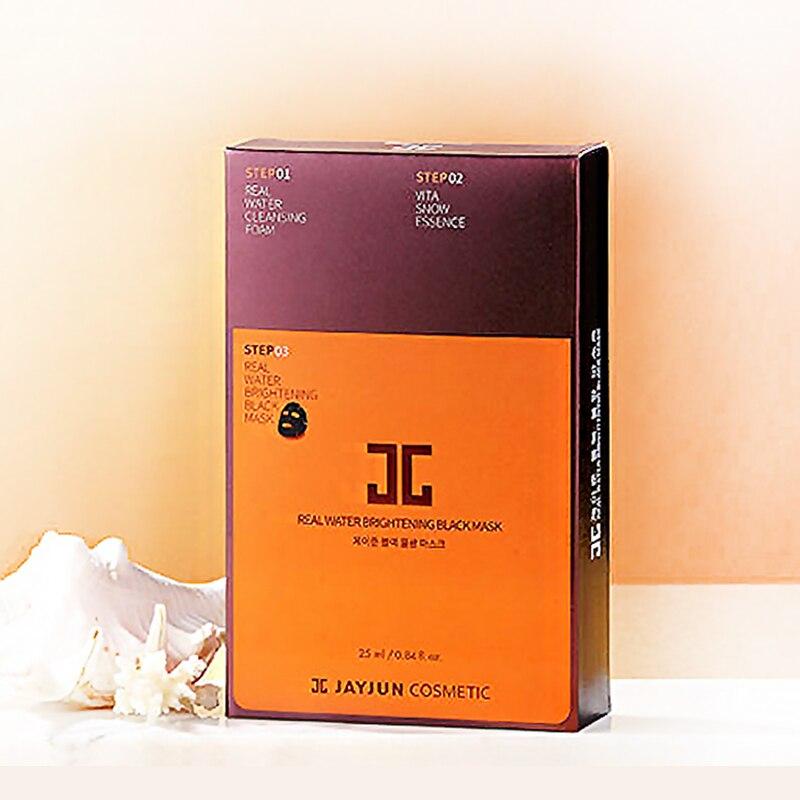 10pcs JAYJUN Korea Facial Mask Moisture Black Mask Pack 3STEP Replenishment Mask Shrink Pores