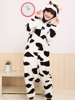 Adults Flannel Cow Pajamas All In One Pyjama Animal Suits Cosplay Costumes Adult Garment Cute Cartoon