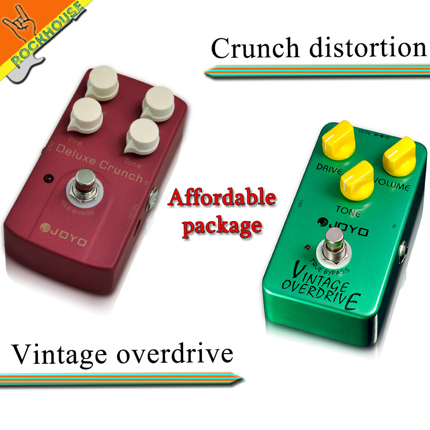 ФОТО Pedals Package sales JOYO JF-01 Vintage overdrive+JF-39 Crunch distortion guitar stompbox integrant pedals for heavy rock