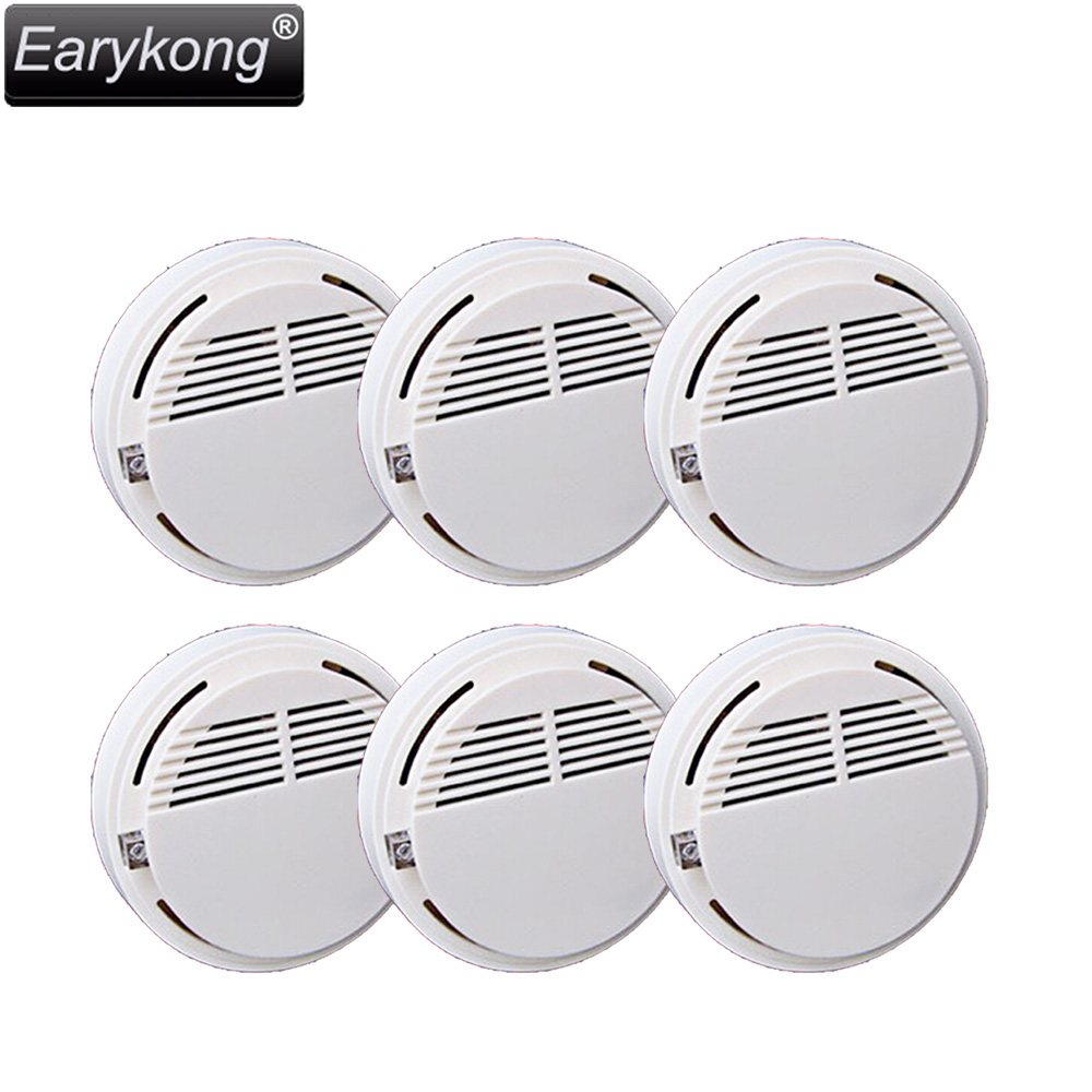 2015 New Free Shipping Hot Selling independent Smoke Detector Fire Alarm Sensor for Indoor Home Safety Garden Security CX-SM-06