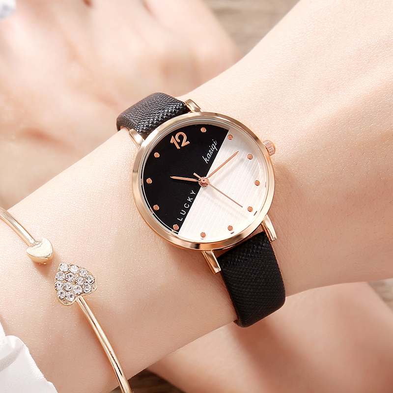 2018 new chic watch female middle school students Korean version of the simple trend retro small