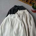 Демисезонный для женщин Повседневное Ультра свободные плюс размеры японский стиль кружево лоскутное удобные промывают водой льняные руба...