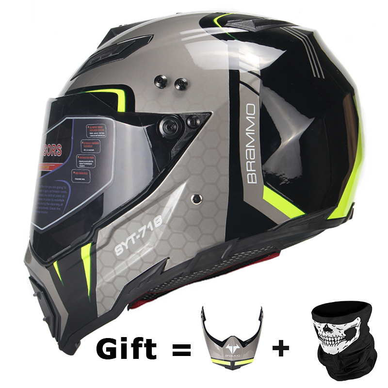 BYE New Motorcycle Helmet Men Full Face Helmet Moto Riding ABS Material Adventure Motocross Helmet Motorbike DOT Certification#(China)