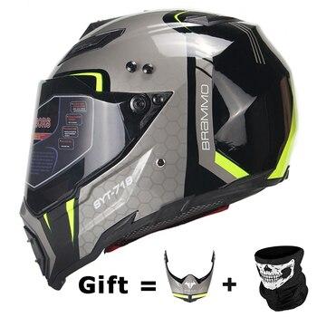 BYE New Motorcycle Helmet Men Full Face Helmet Moto | DOT Certification