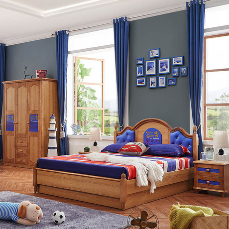 Children Beds Kids Furniture Pine Solid Wood Child Bed Chambre Bebe European Style Hot New High End Whole