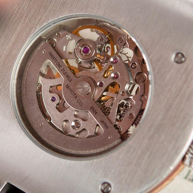 Bobo pássaro mecânico relógios de pulso masculino relógio de metal de madeira à prova dwaterproof água relógio de luxo relogio masculino C uQ29 - 3