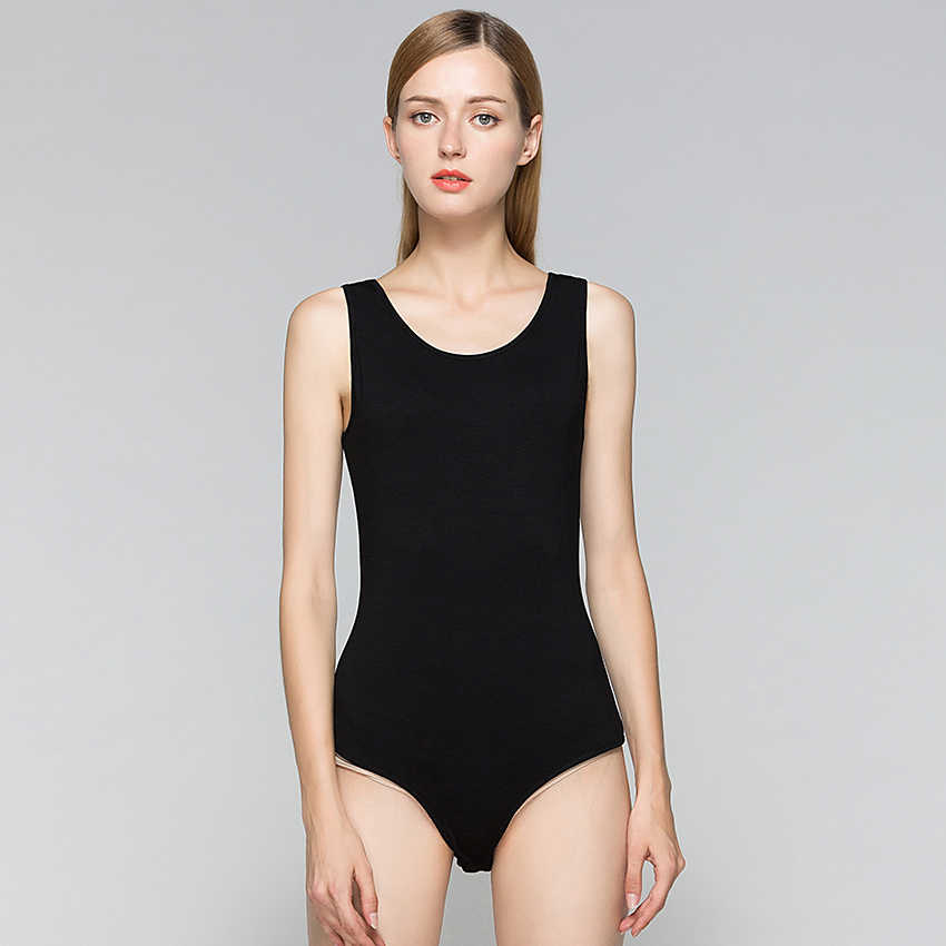 Sleeveless Sommer Bodysuit Weibliche Baumwolle Strick Taste Strampler Frauen Schwarz Weiß Körper Anzug Süße Casual Bodycon Dünne Sexy