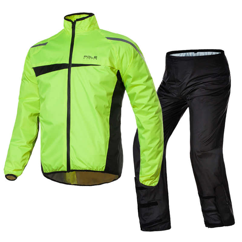 POLE Motorcycle Raincoat Breathable Quick Dry Motocross Riding Waterproof  Raincoat Rain Pants Suit Motobike Rain Suits