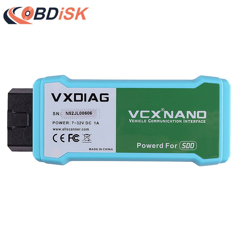 2017 Newest VXDIAG VCX NANO Scanner for Land Rover and Jaguar 2 in 1 with Software SSD V145 Updatable WIFI Diagnostic Tool