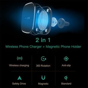 Image 2 - 10W Qi bezprzewodowa ładowarka samochodowa szybka Nillkin 2 W 1 magnetyczny uchwyt samochodowy uchwyt telefonu Pad dla iPhone X/8 + dla Samsung S10/uwaga 10