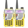2 pcs dual band rádio em dois sentidos/2 maneira de rádio baofeng uv-5re comunicador sem fio com fone de ouvido livre