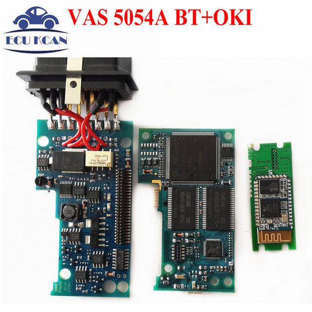 Grátis DHL VAS 5054A ODIS VAS5054 VAS 3.03 VAS5054A Bluetooth Suporte UDS Protocolo VAS 5054A OKI 5054 OBD2 Ferramenta De Diagnóstico