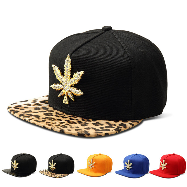 7fb2933c3 US $10.0 35% OFF|Vintage Men Women Rhinestone Cotton Golden Hemp Leaf  Snapback Gorras hip hop hats Diamond Camouflage Baseball Caps-in Baseball  Caps ...